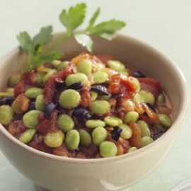 lima beans and tomatoes