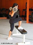 step ups barbell